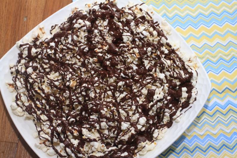 Salted Dark Chocolate Popcorn