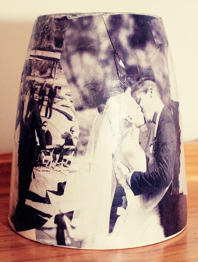 Mod Podge Wedding Vase