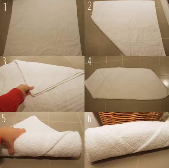 Roll your towel like a pro - Simple ways making bathroom feel like mini spa ...